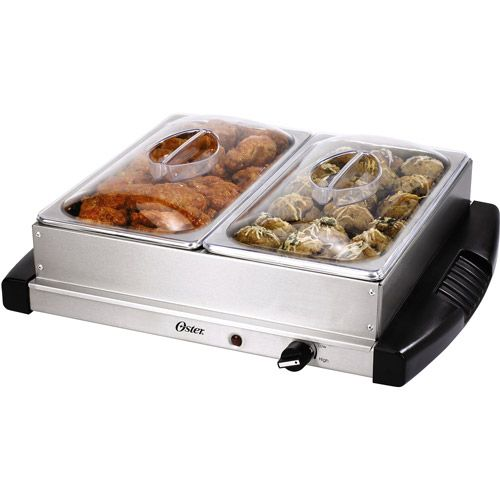 Food Warmer Trays At Walmart ~ Oster double buffet server warming tray