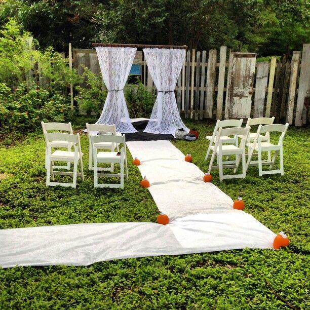 Tiny Backyard Wedding : Tiny wedding Mini wedding Small wedding Backyard wedding Fall