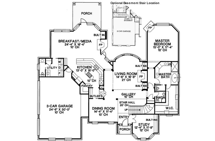 Love the butlers pantry between kitchen and dining room for Butlers pantry floor plans