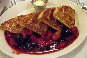 German Hazelnut Waffles With Blackberry Cream