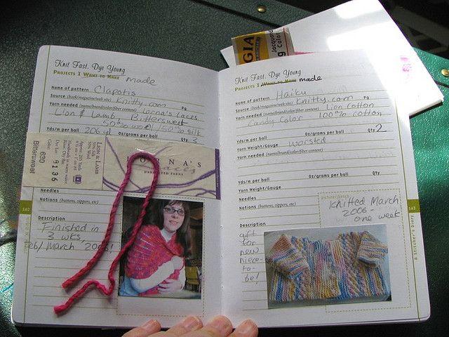 Knitting Project Journal : Knitting journal crafty pinterest