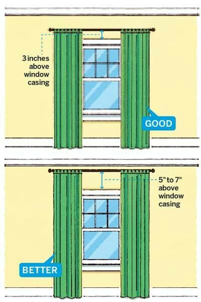 Hanging curtains | For the Home | Pinterest