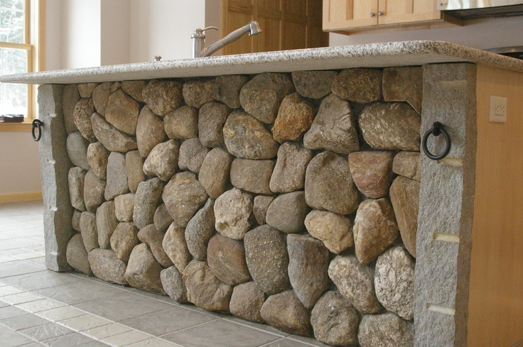 Kitchen island stone veneer | Natural Stone Work | Pinterest