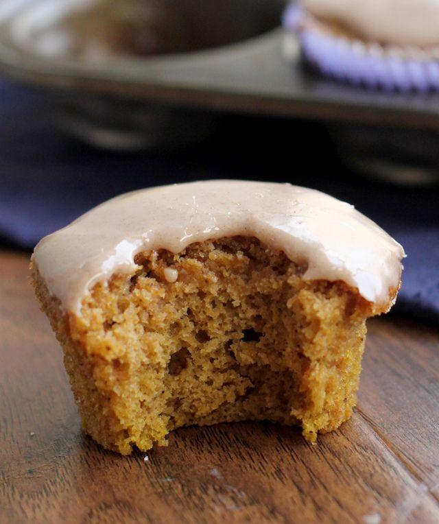Pumpkin Pound Cake Cupcakes with Maple Cinnamon Glaze | Recipe
