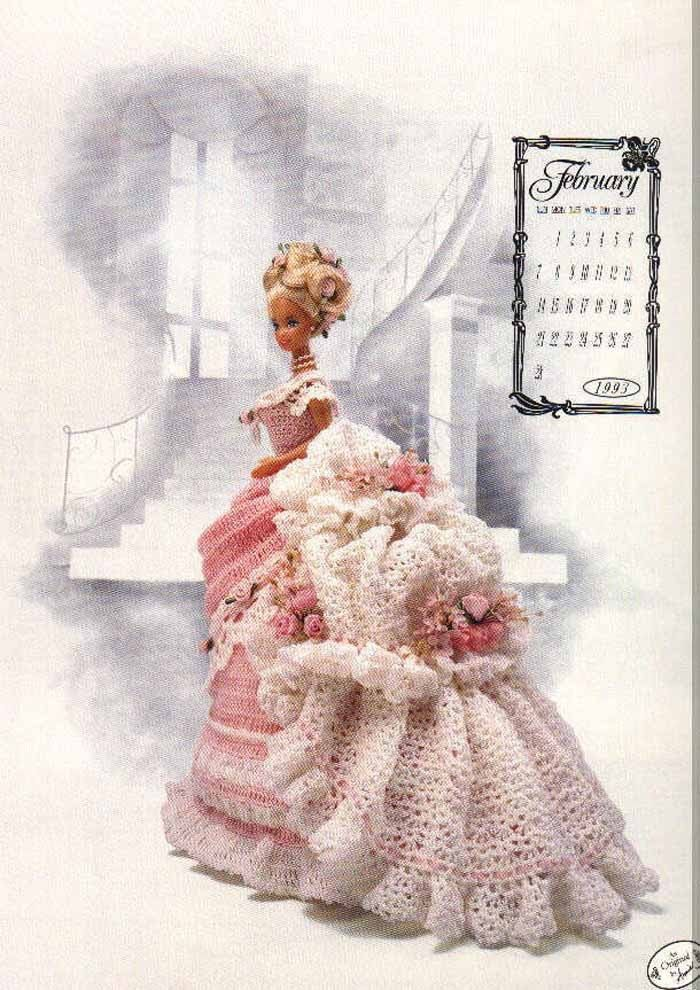 Crochet Pattern For Doll Clothes : PDF Pattern - Fashion Doll Clothes Crochet - Free Shipping