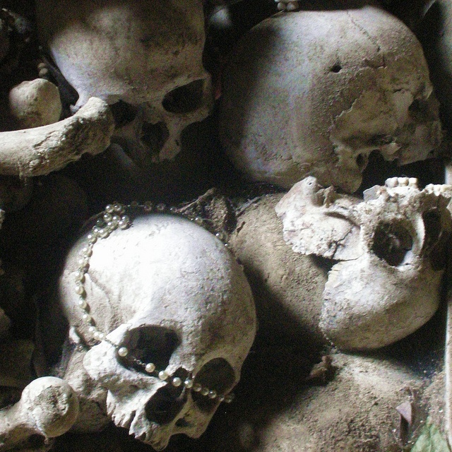 Intercede by Incognita Nom de Plume, via Flickr  Skulls in the Fontanelle Cemetery Caves, Naples, Italy