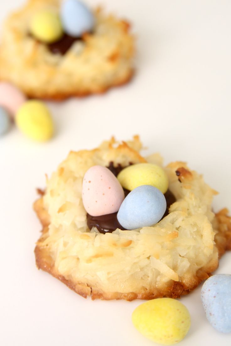 Coconut Macaroon Nutella Nests Recipe — Dishmaps