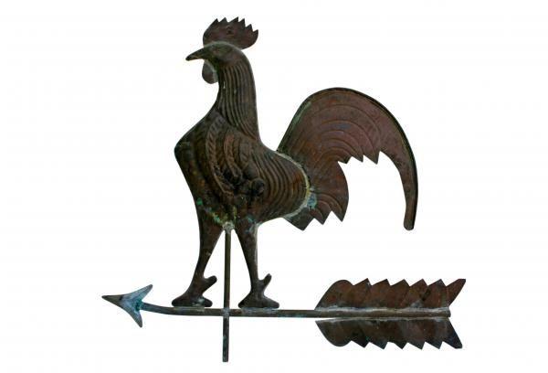 Old copper rooster weathervane boom pinterest