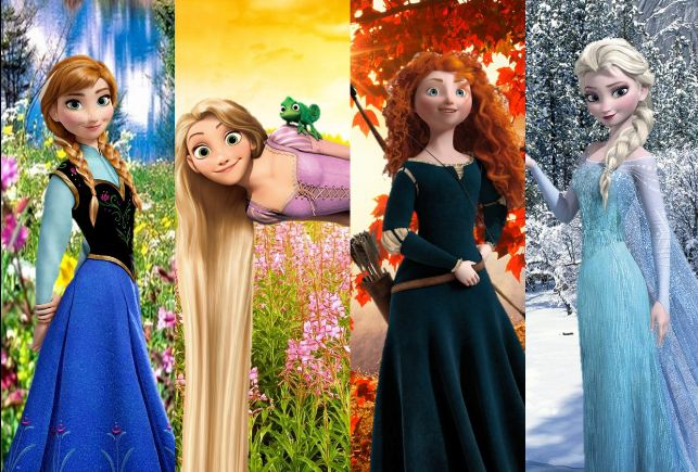 Elsa, Anna, Rapunzel and Merida - Seasons 3 | Rise of the Brave Frozen ...: pinterest.com/pin/329044316496513119