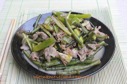 Stir fried Chinese Peas with Beef Recipe (Đậu Đũa Xào Thịt Bò ...