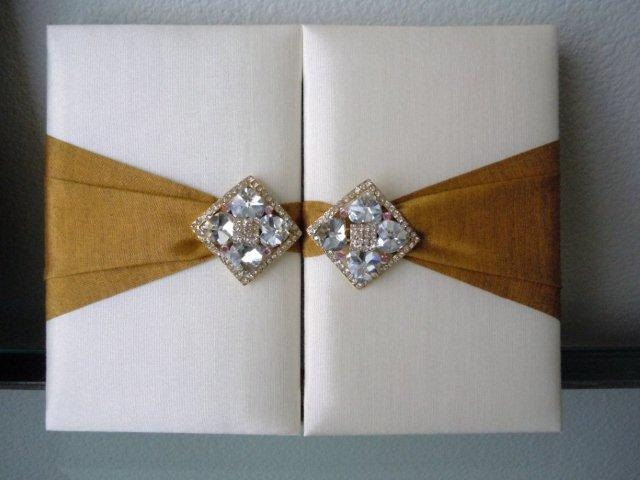 100 Silk & Crystal Wedding Invitations Boxes ANY COLOR Available. $2,495.00, via Etsy.