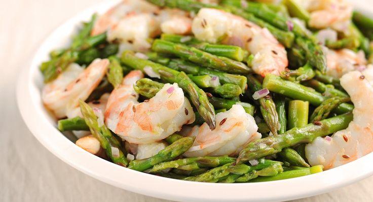 Asparagus and Shrimp Salad with Lemon Dill Vinaigrette | Recipe