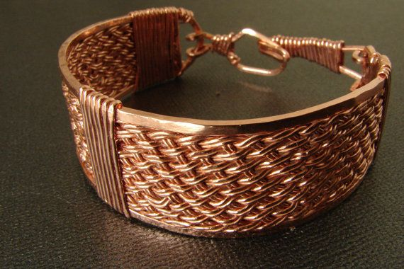 Copper Handwoven and Hand Wire Wrapped by SecondNatureJewelry, $45.00