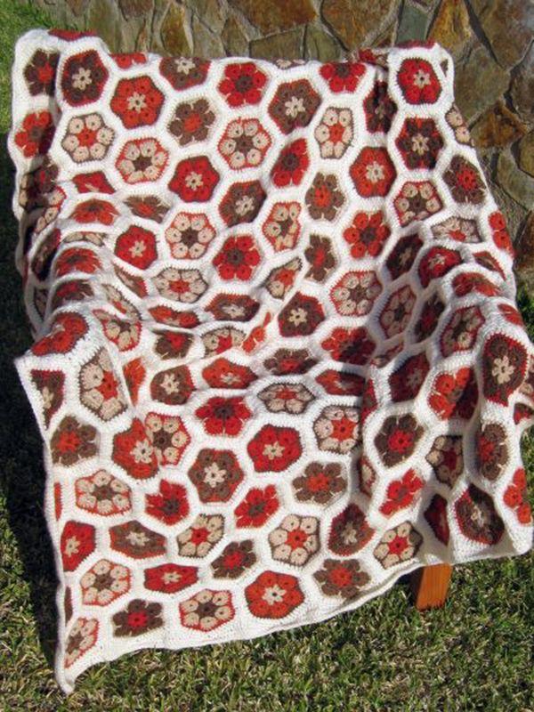 African Flower Pattern Baby Blanket Free Patterns ...