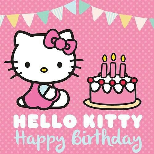 Candid image throughout hello kitty printable birthday card