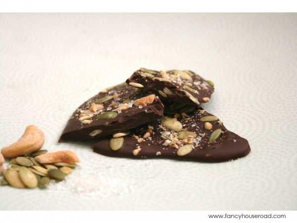 Hazelnut, Pumpkin Seed, And Pistachio Dark Chocolate Bark ...