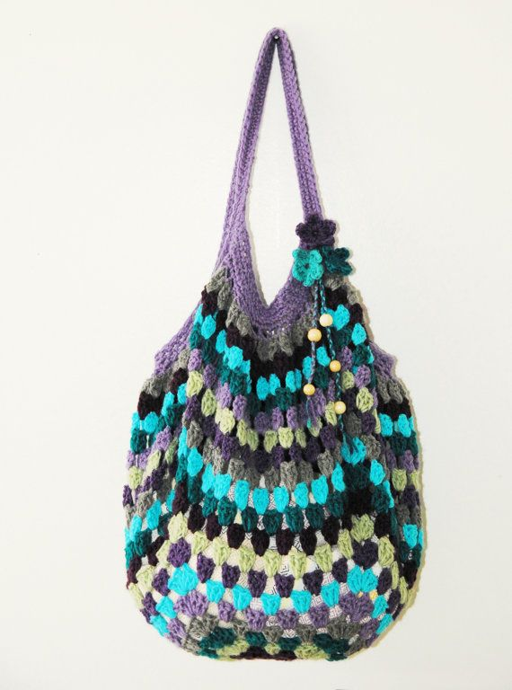 Crochet Beach Bag Tote by AKstudioSHOP on Etsy, $28.00