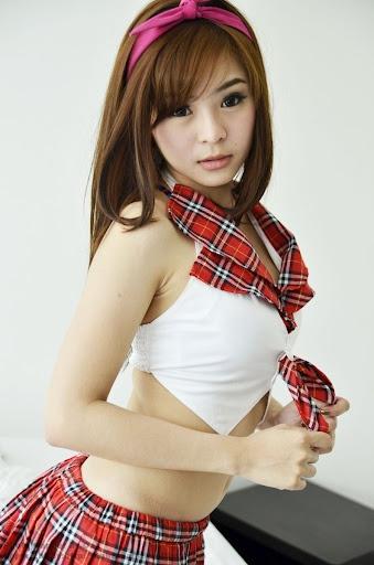 ลีน่า แอ๊บแบ้ว ชุดนักเรียนญี่ปุ่น #แฟนซี