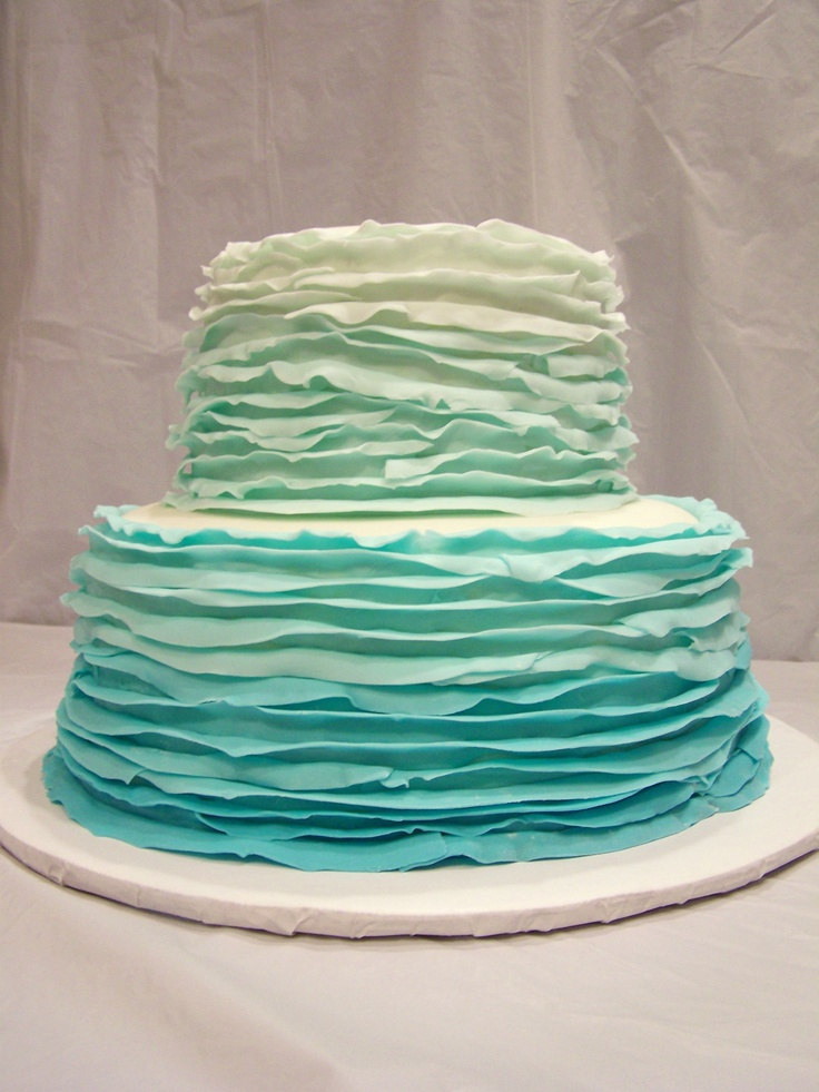 Blue Ombre Cake Images : blue ombre cake Birthday Parties Pinterest