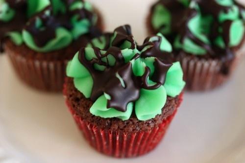 Grasshopper Brownie Bites | Sweets | Pinterest
