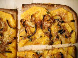 Squash pizza (Jim Lahey's no-knead dough) | recipies | Pinterest