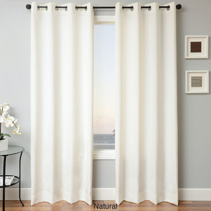 Sunbrella Indoor/Outdoor Grommet Top Curtain Panel | Overstock.com ...