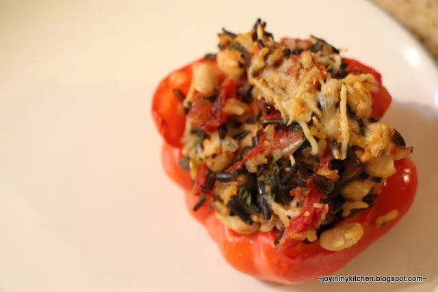 Wild Rice Stuffed Peppers | Reb's Peppers | Pinterest
