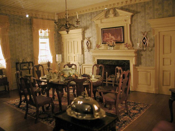 Colonial Dining Room Decoration Fornitures 1 12 Pinterest