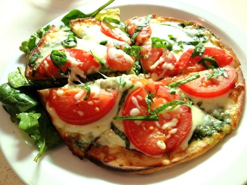 TOMATO, SPINACH, BASIL, MOZZARELLA, and PESTO PIZZA - St Germain ...