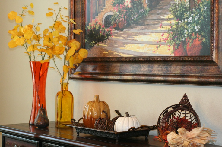 Fall Buffet Table Our Seasonal Home Pinterest