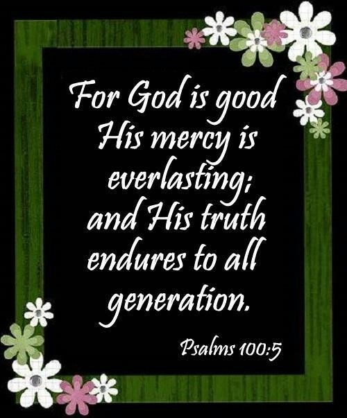 Image result for Psalms 100:5