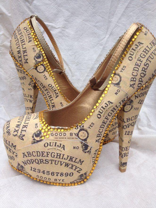 Ouija Board Heels by Miss Fiendish. £100.00, via Etsy.