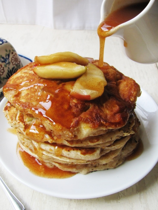 apple pancakes with apple cider syrup | Food | Pinterest