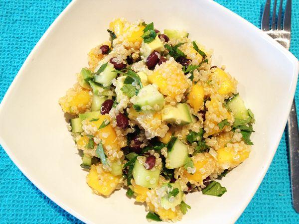 Refreshing Quinoa Salad with Mango, Cucumber, Avocado & Black Beans ...
