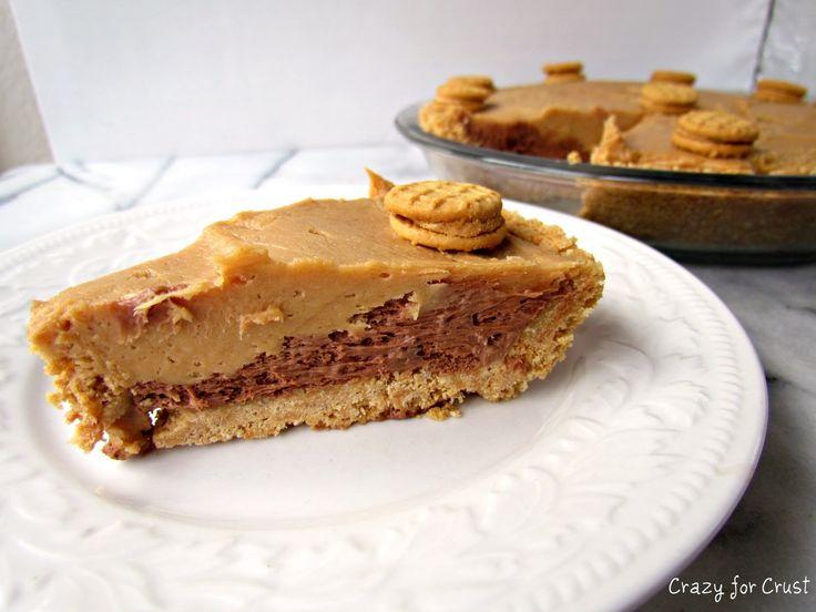 Peanut Butter Nutella Nutter Butter Pie - Crazy for Crust