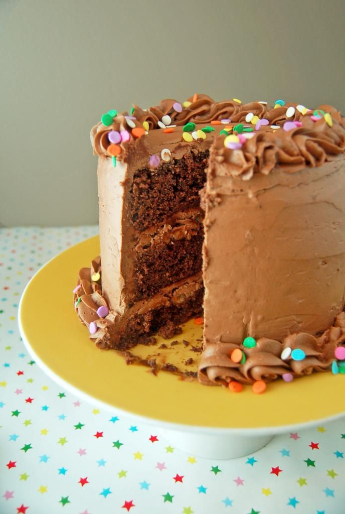 Chocolate Fudge Cake with Fudge Frosting