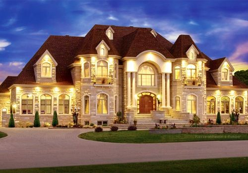 Too big no beautiful dream home house plans pinterest for Big beautiful houses