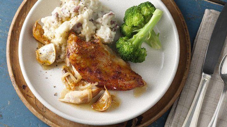 Slow-Cooker Twenty-Garlic Chicken Dinner-Spend 15 minutes in the ...