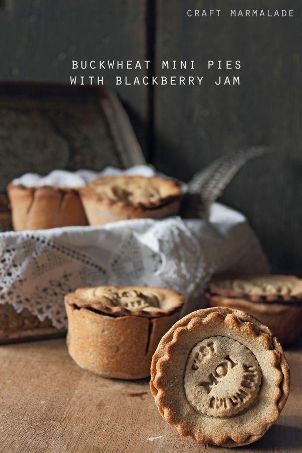 craft marmalade: Mini pies di grano saraceno alla confettura di more ...