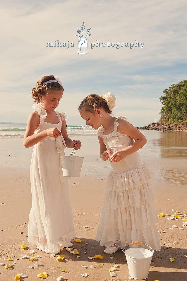 Flowergirls Beach Wedding Tea Princess Ivy Alice Dresses