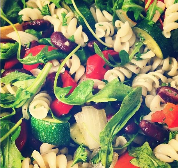 roasted pepper salad summer pea and roasted red pepper pasta salad