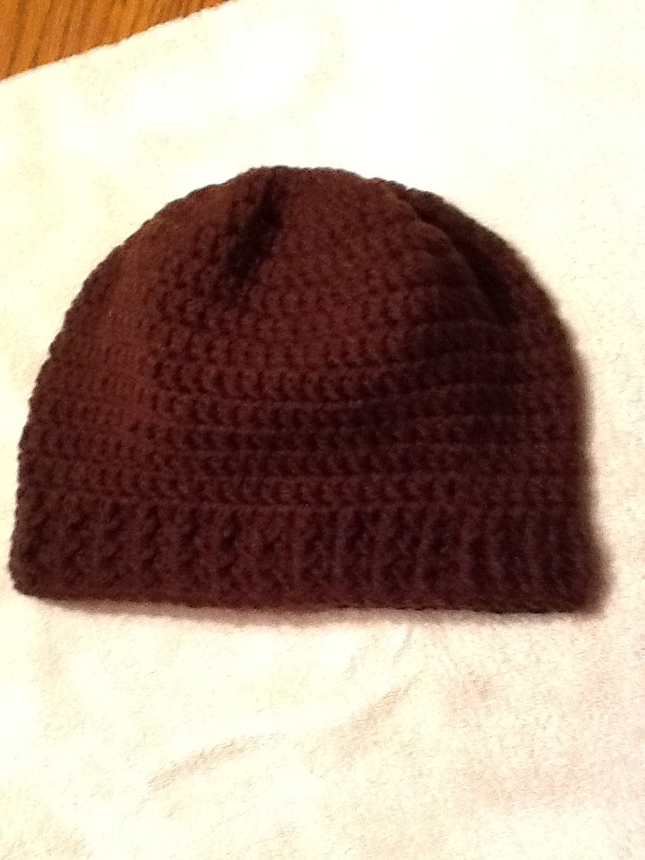 Brown mens crocheted hat. Crochet Inspirations Pinterest