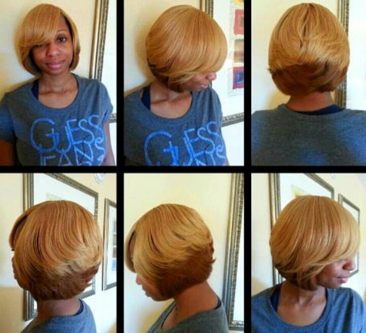 Black Feathered Bob Hairstyle