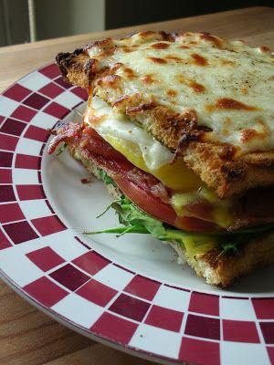 BELT Sandwich - Arugula, Bacon, Bread, Cheese, Egg, Mayonnaise ...