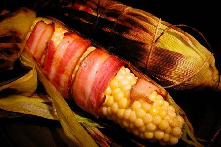 bacon wrapped corn on the cob | Delicious Food | Pinterest