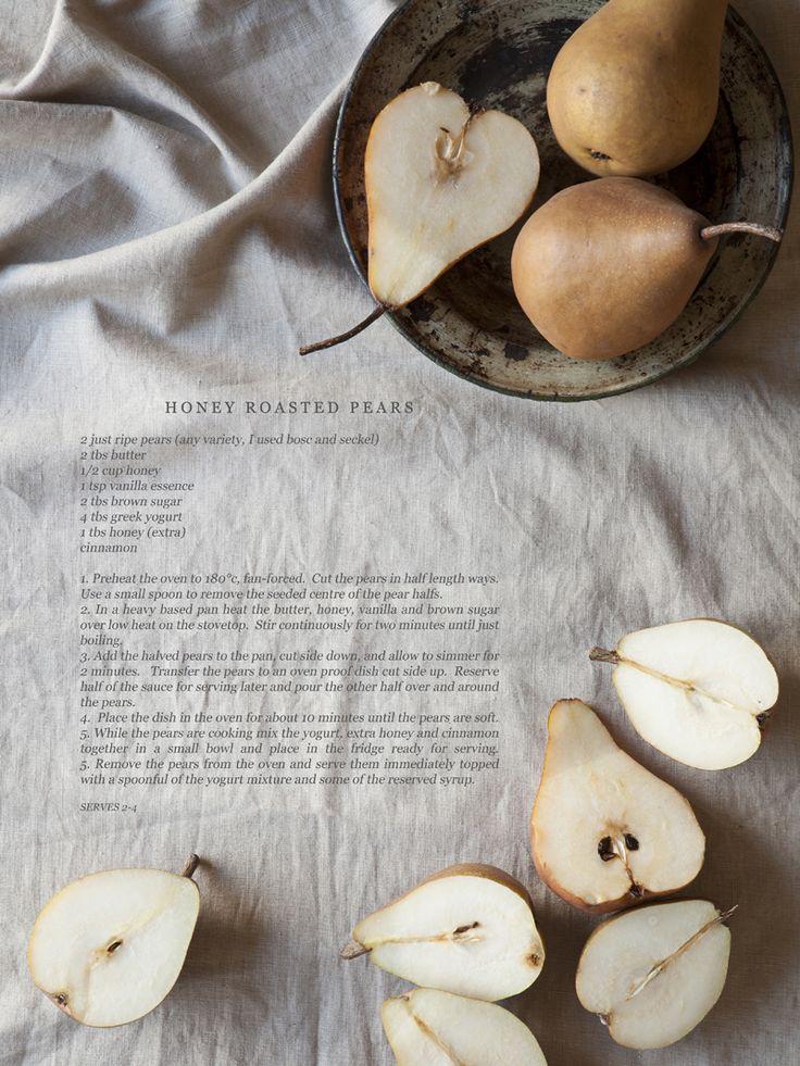 Honey Roasted Pears | Foodie | Pinterest