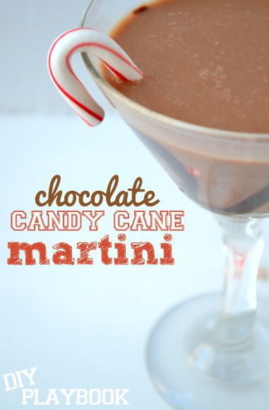 Chocolate Candy Cane Martini Recipe. | Drinks | Pinterest