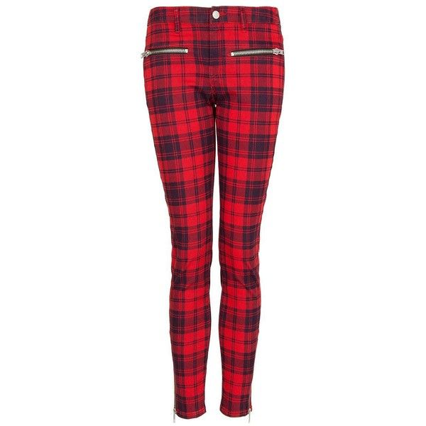 Mango Plaid trousers ($74) via Polyvore