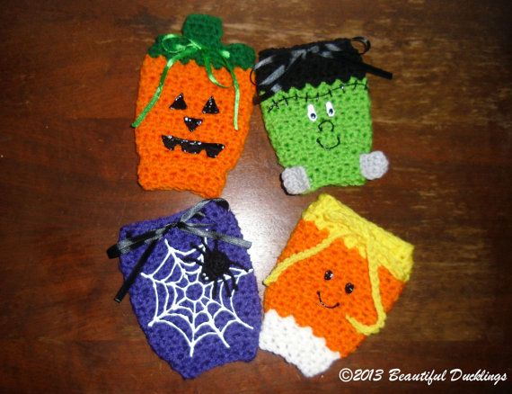 Easy Crochet Pattern For A Baby Hat : Halloween Leg Warmers PATTERN - Crochet - Baby - Costume