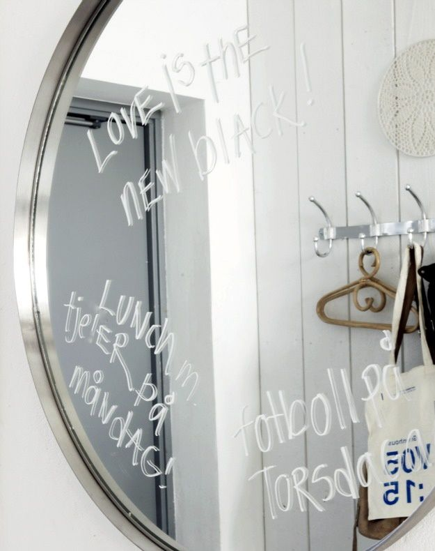 Bathroom mirror writing dream home pinterest for Mirror writing